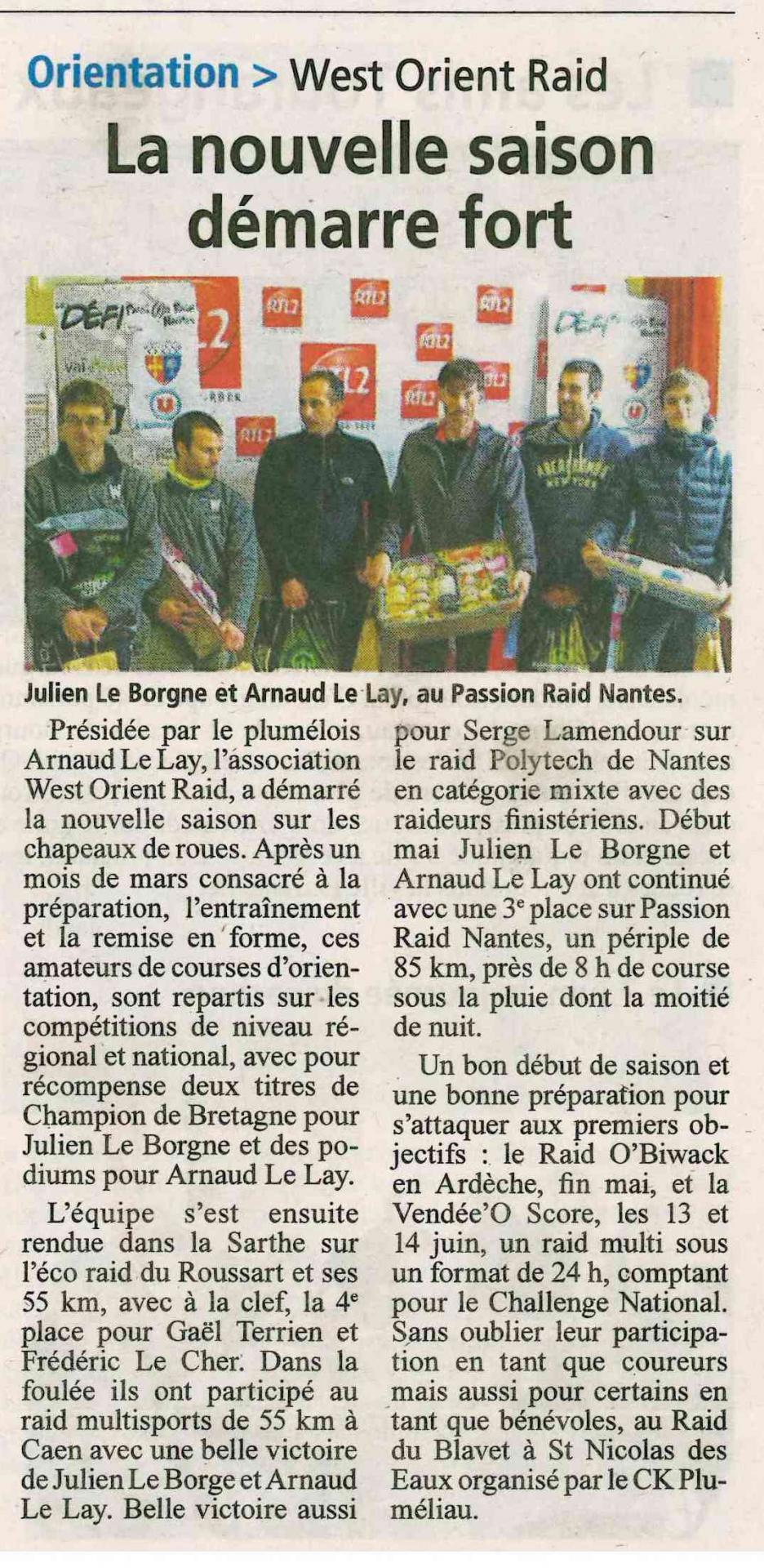 La gazette du morbihan 29 mai 2015