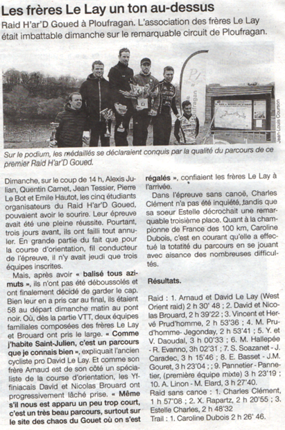 Ouest france 07 03 2016